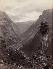 Mountain valley  Norway  c 1850-1900.