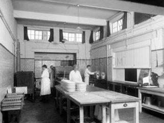 Kitchen at the Shildon works  County Durham  c 1945.