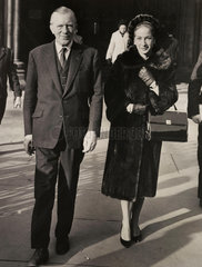 Jack Whittingham and his wife  the Law Courts  London  22 November 1963.