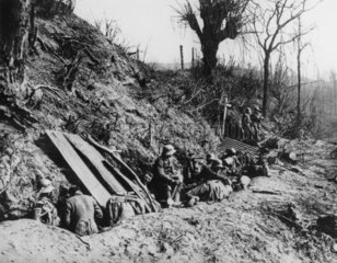German troops entrenched on Mount Kemmel  May 1918.