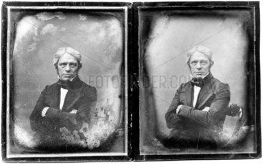 Michael Faraday  English physicist  c 1840.