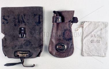 Three cash bags used on the railways  1840-1921.