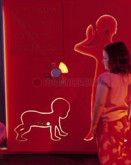 'Is tall better than small'  Wellcome Wing  Science Museum  London  2000.