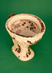 Decorated pedestal water closet 'The New Humber'  c 1880.