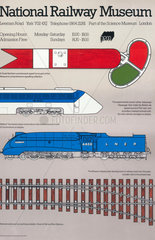 'National Railway Museum'  poster  c 1975.