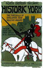 'Historic York'  NER poster  1910.