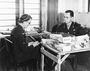 WAAF taking dictation  15 December 1942. 'W