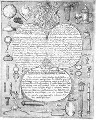 Trade card for Ed Scarlett  18th century. T