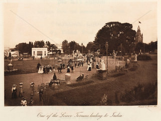 People relaxing in Crystal Palace Park  Sydenham  1911.
