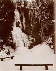 'Rainbow Falls'  Wales 1895.