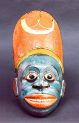 Painted wooden face-mask  Sinhalese  1771-1900