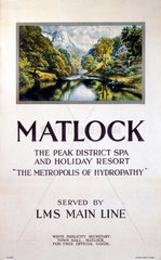 'Matlock - The Metropolis of Hydropathy'  LMS poster  1923-1947.