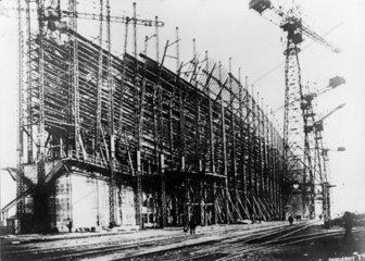 TS 'Isle de France' under construction  1926.
