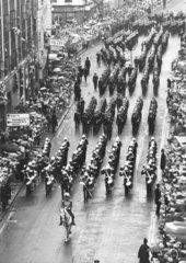 Victory parade  Falklands War  City of London  13 October 1982.