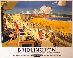 'Bridlington'  BR poster  1950s.