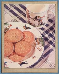 Milk and biscuits  c 1935.