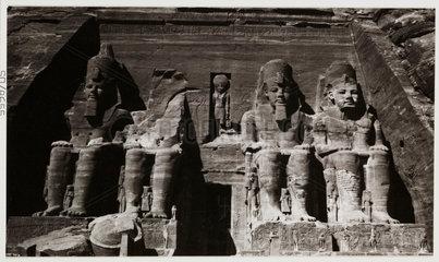 Abu Simbel  Egypt  c 1905.