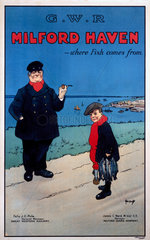 'Milford Haven - Where Fish Comes From'  GWR poster  c 1925.