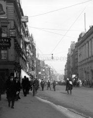 Businessmen walking along Fleet Street  Lon