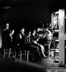 Colour television development: physiological tests with audience  1955.