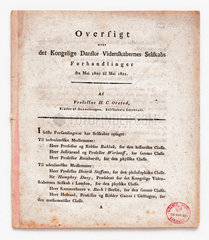 Oersted's announcement  21st July  1820.