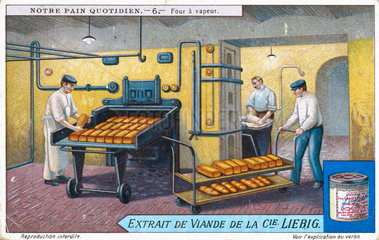 'The baker's oven'  Liebig trade card  early 20th century.