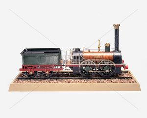 'Comet' Locomotive  1835. Model (scale 1:16