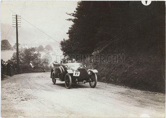 Car competing in a motoring trial  Yorkshire  1913.