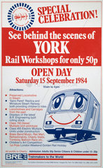 'See Behind the Scenes of York'  BR poster  1984.