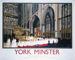 'York Minster'  LNER poster  1930.
