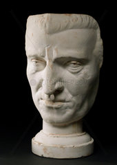 Plaster phrenological head  19th century.