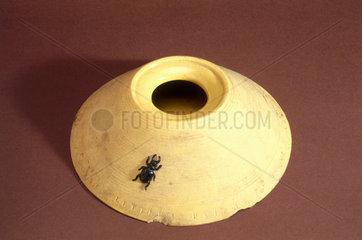 Earthenware beetle trap  c 1851-1900.