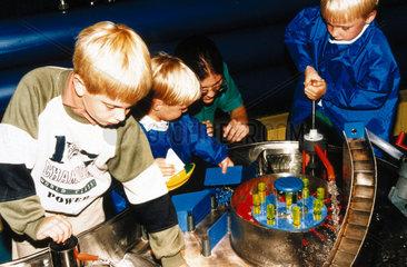 Children in the Water Zone  Garden area  Science Museum  London  1990s.