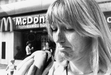McDonalds  King Street  Hammersmith  August 1981.