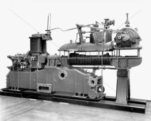Parsons' radial flow steam turbo alternator  1902.