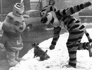 Winnie the Pooh and Tigger  January 1970.