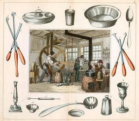 The tinsmith  or pewterer  1849.