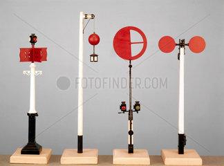 Various railway signals  c 1837-1846.