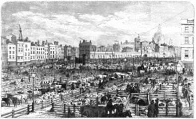 Smithfield Market  London 1855.