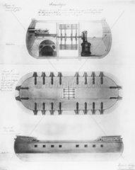 Fulton's 'Demologos'  1814.