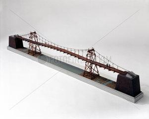 Chinese rope and span suspension bridge.