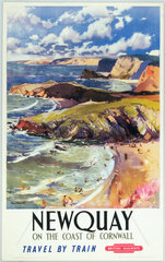 'Newquay - On the Coast of Cornwall'  1950.