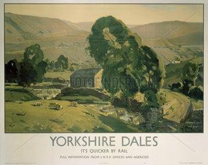 'Yorkshire Dales'  LNER poster  1940.