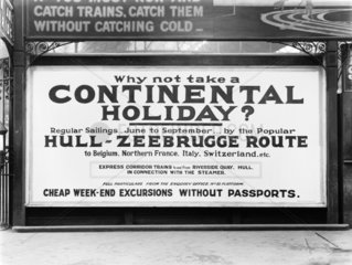 Poster at Manchester Victoria Station  1925.