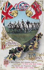Birthday postcard sent to the front  1914-1918.