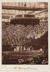 Opening ceremony  the Crystal Palace  London  1851-1854.