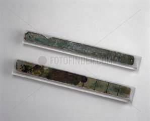 Two Chinese foot measures  500-250 BC.