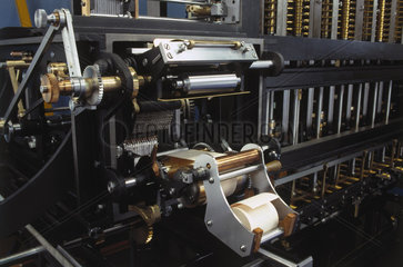 Inking and hardcopy apparatus for Babbage's Difference Engine No 2  2000.