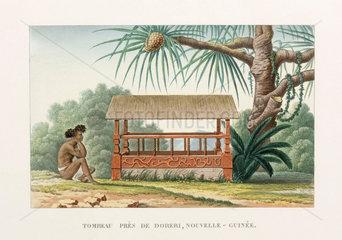 Tomb near Doreri  New Guinea  1822-1825.