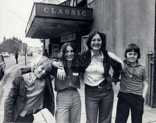 Four children that saved their local cinema  28 May 1976.